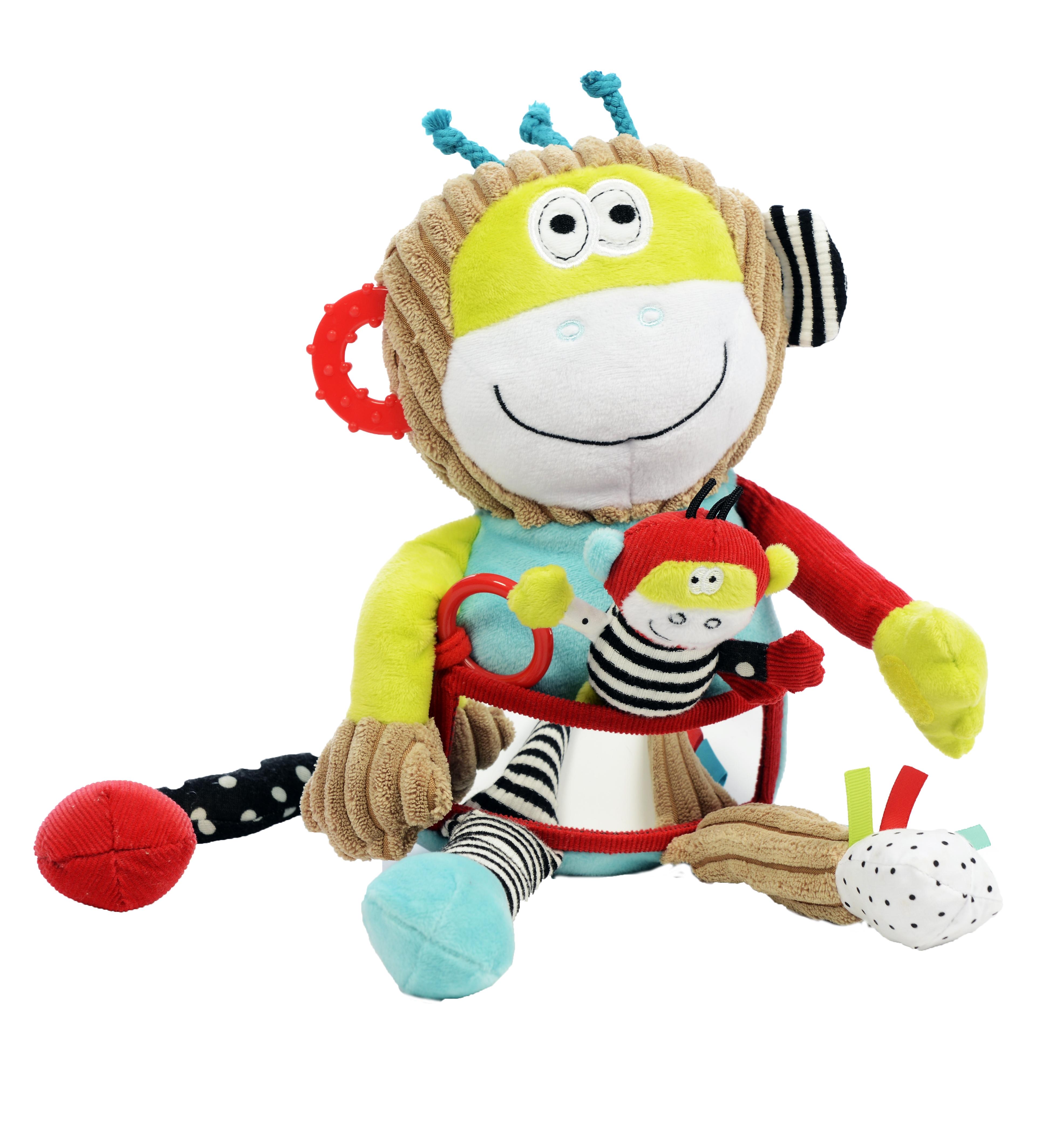 Maimuță cu pui, jucărie senzorială 0