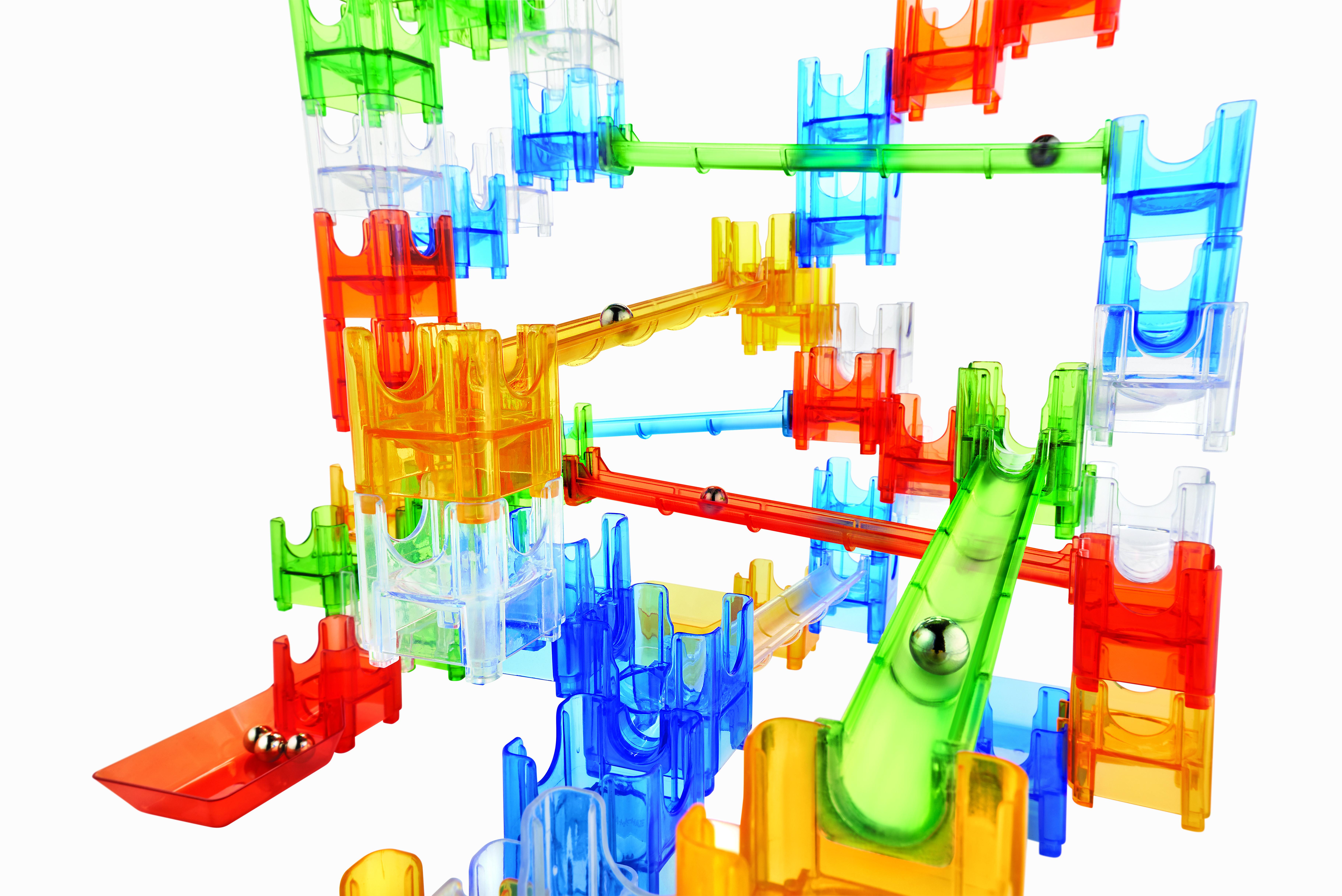 Q-BA-MAZE 2.0: Rails builders set, joc de construcție cu șine și bile 2